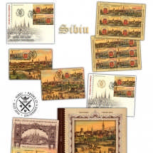 ZMPR - Sibiu, 825 de ani de atestare documentara_Romanian Postage Stamp Day - sibiu, 825 years of recorded existence