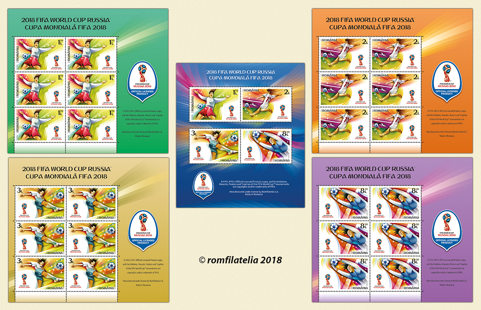 Postage stamps for the World Cup 2018 13