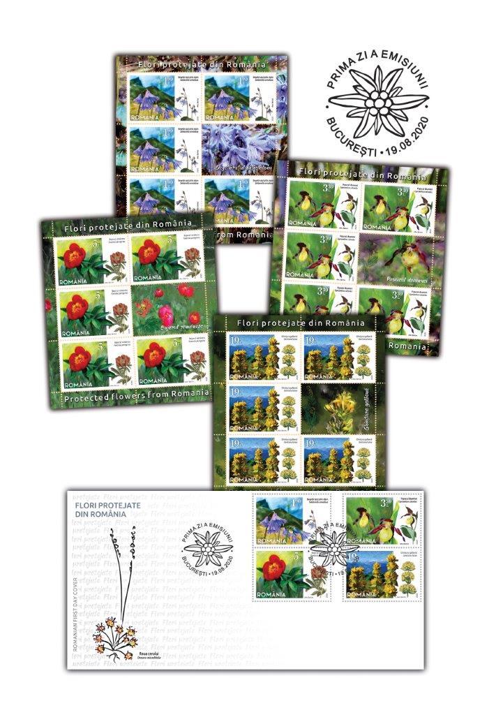 罗马尼亚8月19日发行罗马尼亚受保护的花卉邮票